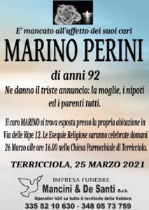 Necrologio Marino Perini, funerale Terricciola, onoranze funebri Terricciola, Impresa funebre Mnacini & De Santi. Servizi funebri a Terricciola, Selvatelle, Morrona, Soina e Soianella.