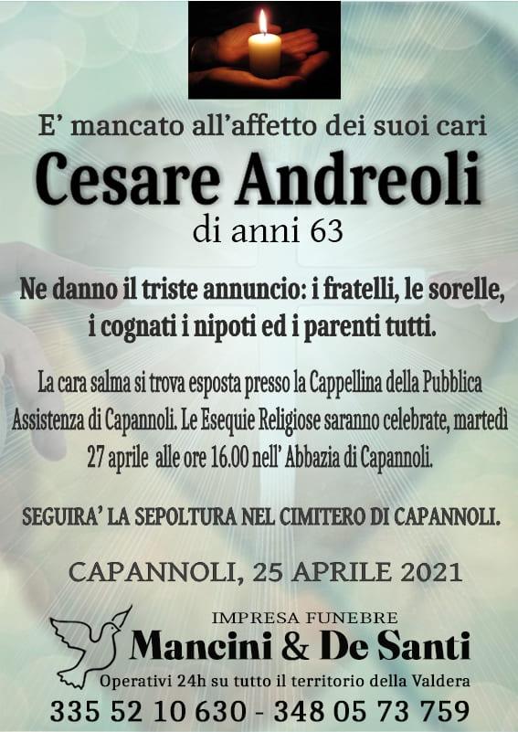 Capannoli - Cesare Andreoli necrologio - Funerale Capannoli - impresa funebre mancini & De Santi