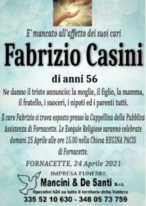 Necrologio Fabrizio Casini - Funerale Fornacette - Impresa funebre Fornacette - Banca di Pisa Fornacette