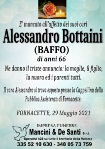 Alessandro Bottaini - necrologio funebre - impresa funebre Pardossi - Funerale Pontedera - onoranze funebri Pontedera - Mancini