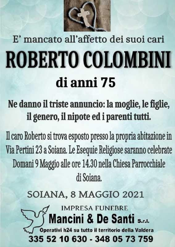 Roberto Colombini - Necrologio Soiana - Onoranze Funebri Mancini - Impresa Funebre Terrcciola