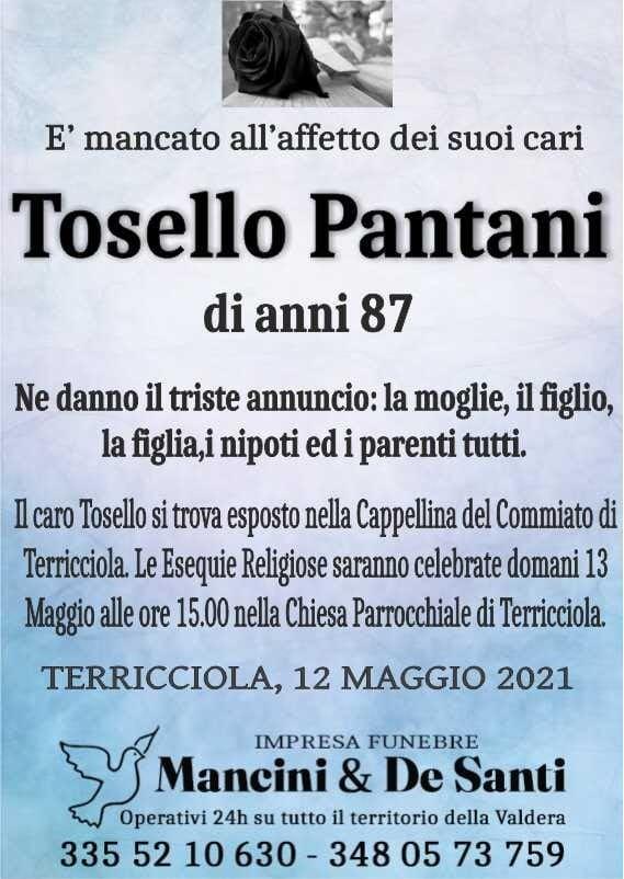 Tosello Pantani - Necrologio Terricciola - Onoranze Funebri Mancini - Pompe Funebri Terricciola - Imnpresa Funebre della Valdera
