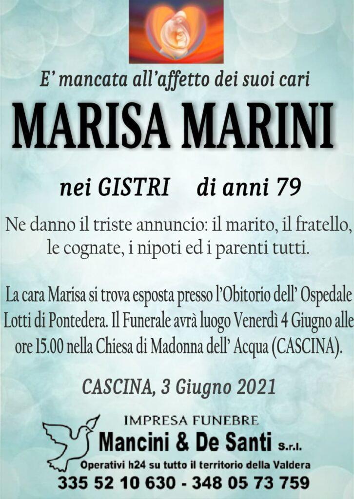 Cascina - Marisa Marini - nei Gistri -Necrologio Cascina - Servizio Funebre Cascina - Onoranze funebri Cascina - Impresa Funebre Mancini