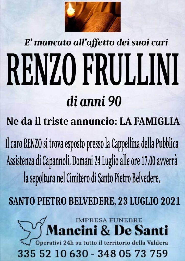 Necrologio - Enzo Frullini - di anni 90 - Funerale Ponsacco - Onoranze Funebri Ponsacco