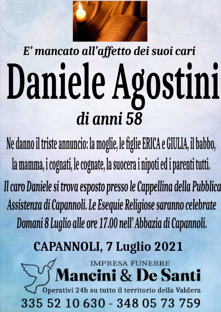 daniele agostini - funerale capannoli - onoranze funebri - Capannoli