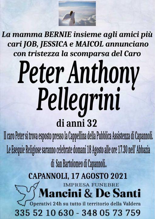 Necrologio Peter Anthony Pellegrini Capannoli