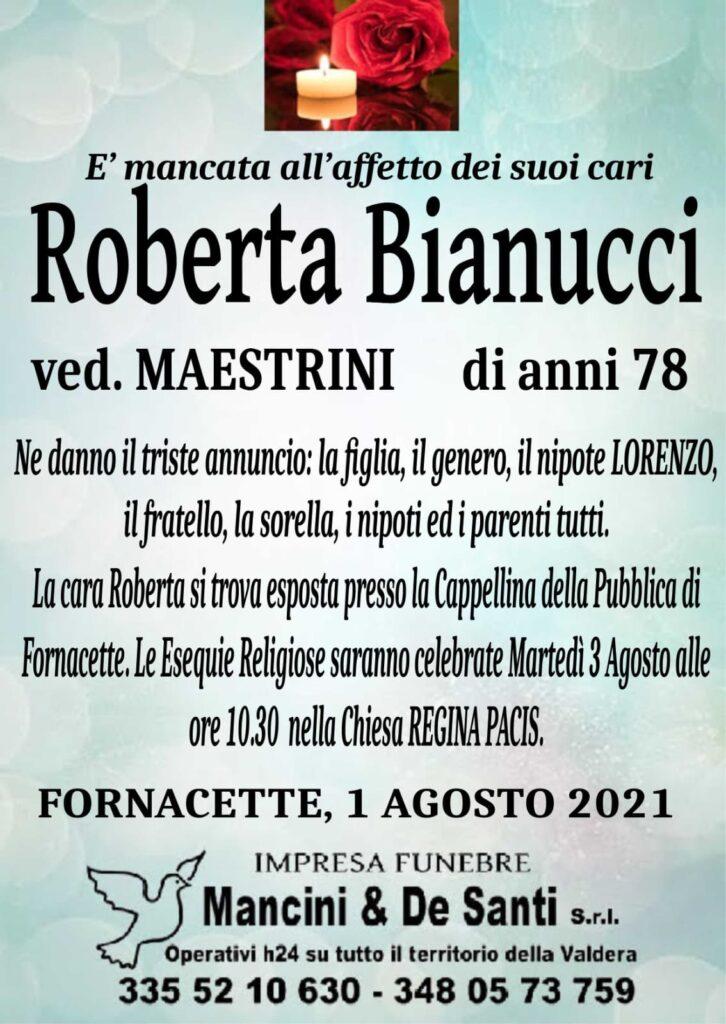 necrologio fornacette - funerale calcinaia - roberta bianucci - martedì 3 agosto - chiesa regina pacis - ore 10.30