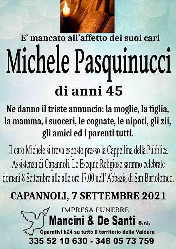 Necrologio Michele Pasquinucci Funerali Capannoli