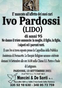necrologio Ivo Pardossi di anni 95 - Funerale a Pardossi - Pontedera